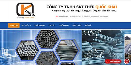 thiết kế website sắt thép xây dựng