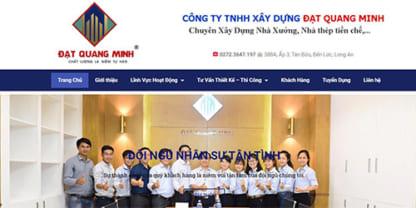 Thiết kế website xây dựng nhà xưởng