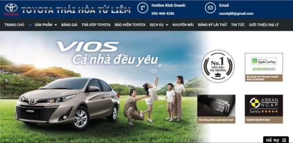 Website ôtô Toyoya Tại Hà Nội
