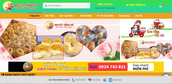 thiết kế website bán bánh ngọt | bánh kem