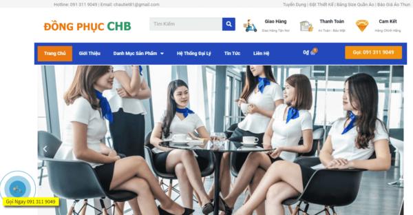 thiết kế website đồng phục -thời trang