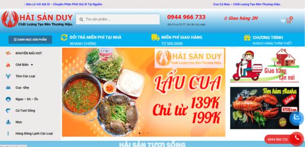 Thiết Kế Website hải sản | thiết kế website nhà hàng