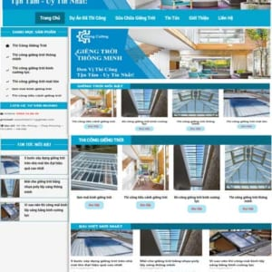 Thi công giếng trời thiết kế website